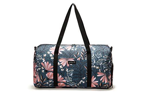 """Jadyn B 22\"""" Women\'s Weekender Duffel Bag with Shoe Pocket, Navy Floral"""