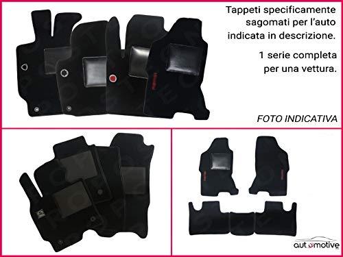 Union Textile Tappetini su Misura Moquette Neri Compatibile con Mitsubishi Pajero Sport dal 1998 al 2006