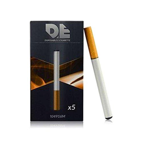 DE - E-cigarette jetable (lot de 5) au goût tabac de 500 bouffées, chacune avec batterie 280mAh et haut volume de vapeur (Sans nicotine ni tabac)
