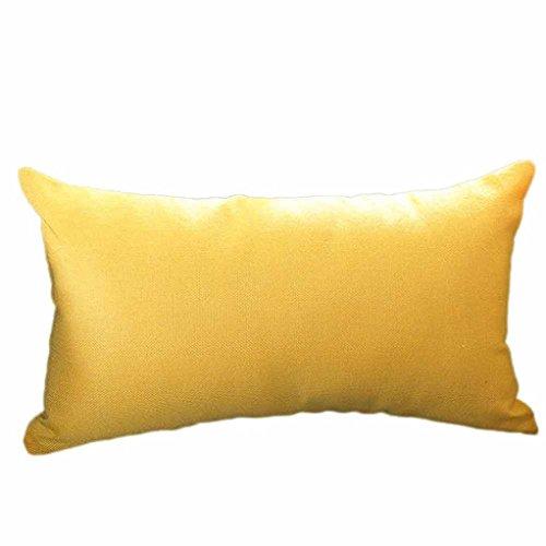 k Kissenbezug Seide Dekokissen Cases Cafe Sofa Kissenbezug Home Dekor (Gelb, 30 x 50cm) (König Und Königin Dekor)