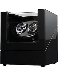 Scatola portaorologi doppia per orologi automatici Rolex, contenitore in legno con vernice per pianoforte, alimentato da motori Giapponesi