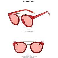 3698eb7148 Taiyangcheng Grandes Gafas de Sol Redondas con Montura de Metal para Mujer,  para Hombre,