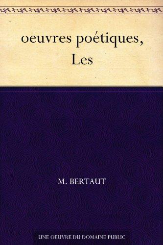 Couverture du livre oeuvres poétiques, Les