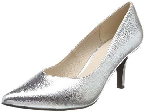 Bianco Damen V Pump Pumps, Silber (Silver), 37 EU