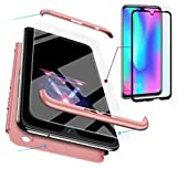 AILZH compatible Huawei honor 10 lite Case+Tempered glass