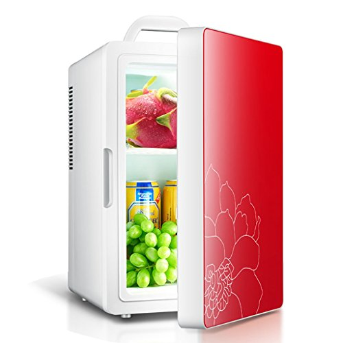 Sunjun 16L Mini Auto Kühlschrank Mini, Schlafsaal Hause mit kleinen Kühlschrank Kühlung Auto Home Dual Heizung und Kühlung ( Farbe : Rot ) (Kompakte Doppel-heizung)
