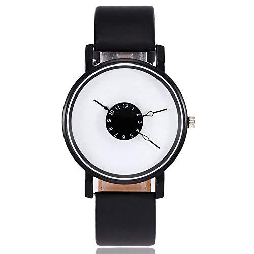 Vamoro Frauen Casual Quarz Lederband Strap Watch Analog Armbanduhr Quarz Uhr Sportuhr Classic Minimalistisches Design Digitaluhren(C)