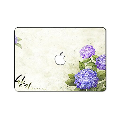 kikhorse Schön Blume Kollektion Hochwertige Ultra Dünn Vorderseite Aufkleber Removeable Top Abziehbild Für New MacBook Air 13 Zoll Retina (2019/2018, Touch ID) (Modell: A1932) (Globus Daisy)