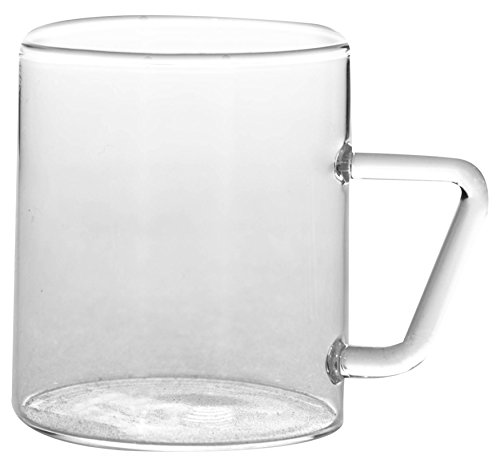 Borosil Vision Classic Mug Set, 190ml, Set of 6, Transparent
