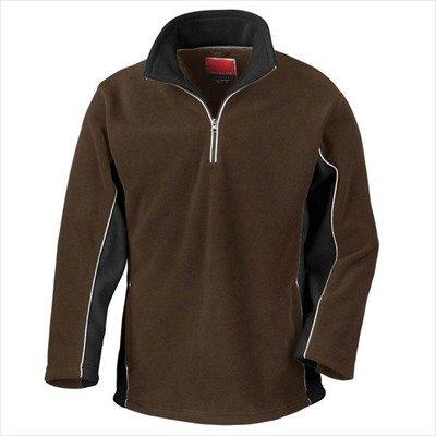 Tech3 Fleece-Sportsweatshirt mit 1/4 Reißverschluss XL,Coffee/Black