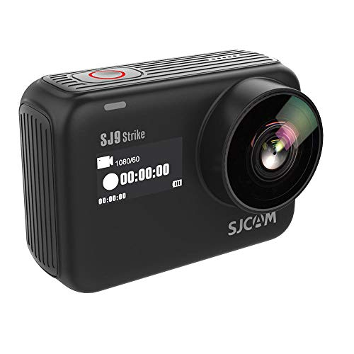 SJCAM SJ9 Strike 4K 60fps cámara de acción Sony IMX377 12MP 60M Cámara Impermeable Video de Cuerpo - Carga inalámbrica Transmisión en Vivo (Negro)