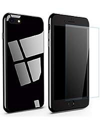 Qissy Funda iPhone 7 iPhone 8 360 Grados Completa Metal Marco de Parachoques Absorción Magnética Carcasa