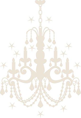 GRAZDesign 850005_50_816 Wandtattoo mit Swarovski für Wohnzimmer Kronleuchter Sterne   Wand-Deko mit Sprüchen/Zitaten (73x50cm//816 Antique White//Swarovski Elements Set 12 Stück) - Swarovski Sterne Kronleuchter Kristalle