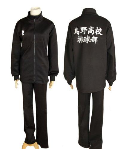 Ruleronline Haiky? !! Karasuno High School Haikyu Teil Hinata Shoyo Karasuno Trikot mit langen aermeln Uniform Karasuno High-School-Uniform Cosplay L (Cosplay Hinata Uk)