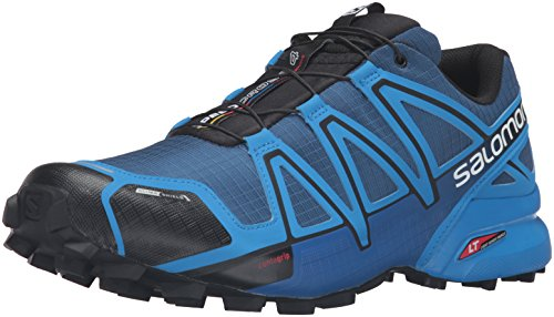 Salomon Herren Speedcross 4 CS Traillaufschuhe, Blau (Blue Depths/Bright Blue/Black), 45 1/3 EU (Cs Trail-running-schuh)