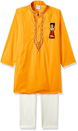 Chhota Bheem Boys' Kurta Pyjama (GGAPP-CB518E_Yellow_9-10 yrs)