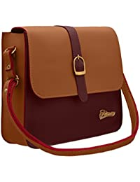 TAP FASHION Stylish PU Synthetic Leather Women's Sling Bags With Adjustable Strap For Ladies And Girls