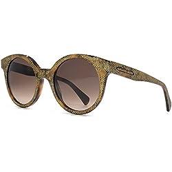 Alexander McQueen Cateye Sonnenbrillen in Havanna Gold geprägt AMQ 4275/S OFU 49 49 Brown Gradient