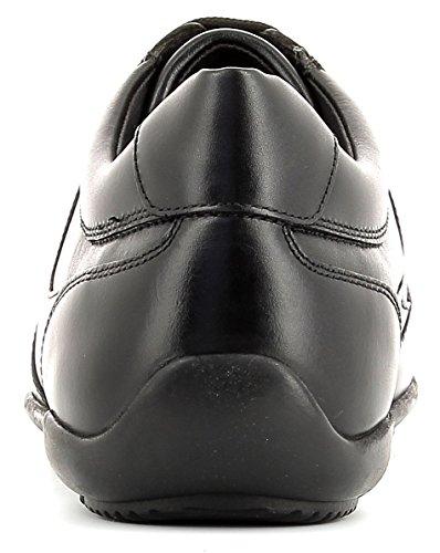 Geox U743BB Edgware Sportlicher Herren Business Sneaker, Schnürhalbschuh, Freizeitschuh, atmungsaktiv Black