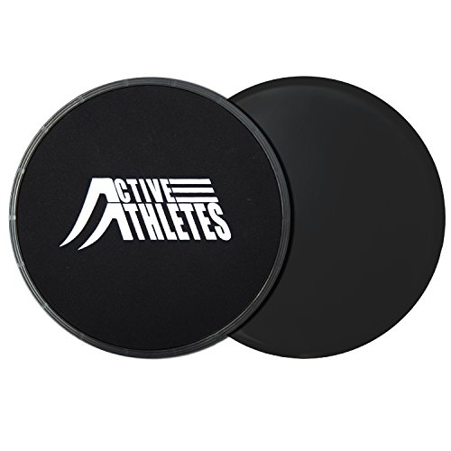 Active Athletes Ab Slider Gliding Discs - 2x Exercise Glider for Core Workout and Full Body Fitness Exercise For Muscle Toning And Weight Loss Test