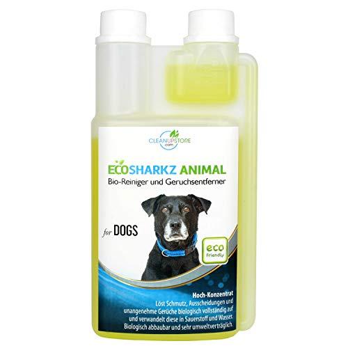 Ecosharkz neutralisant de mauvaises odeurs pour chiens - désodorisant naturel - concentré à haut débit pour éliminer l'odeur d'urine (jusqu'à 25L de solution nettoyante)