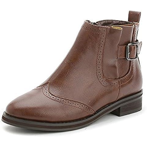 Otoño e invierno de viento en Inglaterra con botas desnudo Martin correa hebilla botas mujeres bota zapatos zapatos de las mujeres , brown ,