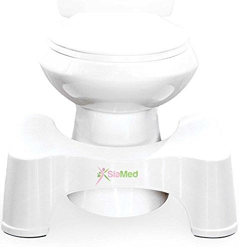 SiaMed medizinischer Toilettenhocker bei Hämorrhoiden, Verstopfung, Reizdarm, Blähungen, Blähbauch - medizinische Soforthilfe für eine gesunde Darmflora