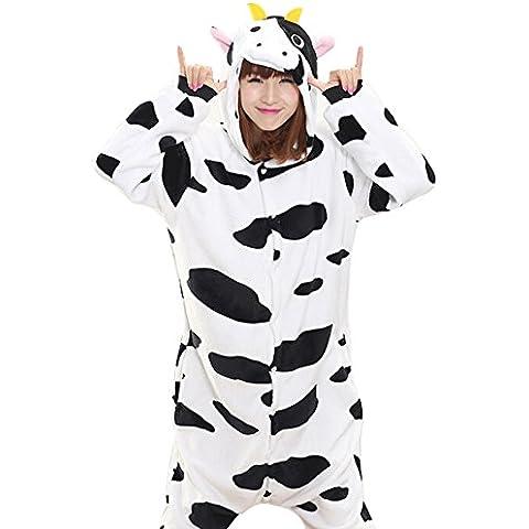Animal Carnaval Disfraz Pijamas Adultos Unisex Onesie Kigurumi Pyjamas de Cosplay del traje del vaca