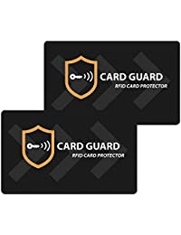 Set of 2 RFID/NFC Blocking Credit Card Protector | Contactless Card Protection for Wallets | Clip Holders | Sleeves | Purses | Stay Safe & Secure.