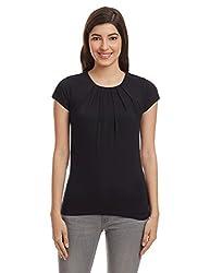 United Colors of Benetton Womens Body Blouse Top (16A3CV4E9644I100XS_Black)
