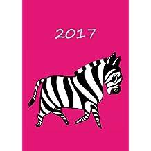 Kalender 2017 - Mein Zebra - Pink: DIN A5 - 1 Woche pro Doppelseite