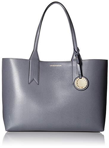 Emporio Armani Frida grau strukturierten Shopper Tasche Beige Leather