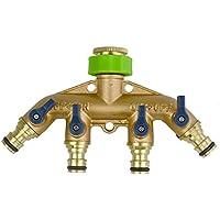 Raccordi in ottone maschio/connettore a sgancio rapido per tubo da giardino con adattatore, %2F4 3