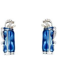 Deakin & Francis Sterling Silber Golf Tasche Manschettenknöpfe mit Blau Emaille
