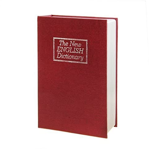 LARGE NEW RED ENGLISH DICTIONARY SECRET BOOK SAFE MONEY BOX JEWELLERY SECURITY LOCK