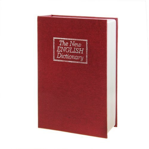 LARGE NEW RED ENGLISH DICTIONARY SECRET BOOK SAFE MONEY BOX JEWELLERY  SECURITY LOCK by Oxford Street
