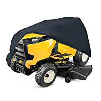 2win2buy Lawn Mower Cover Waterproof Heavy Duty Push Lawn Mower Covers - UV & Dust & Water Resistant, Weather Resistant,Universal Fit with Drawstring Storage Bag (Riding Lawn Mower Cover)
