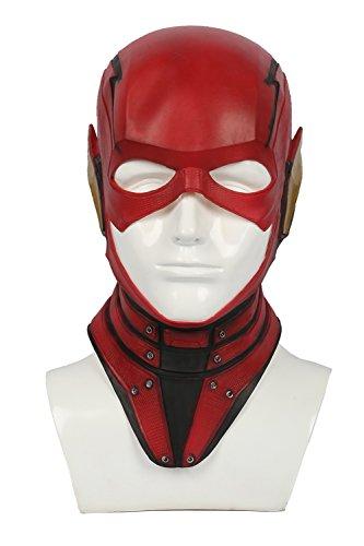 Halloween Maske Rot Latex Voller Kopf Helm Film Cosplay Kostüm Replik für Herren Verrücktes Kleid (Film Replik Masken)