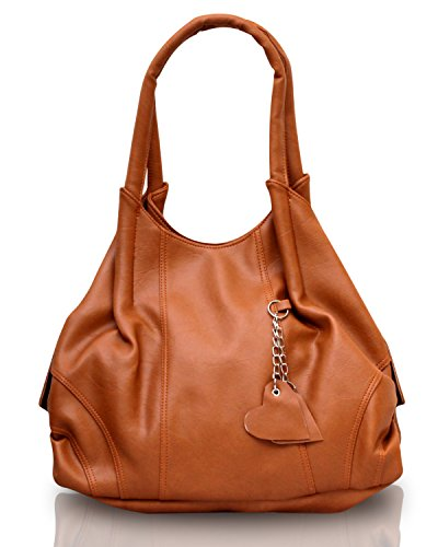 Fostelo Women's Style Diva Shoulder Bag (Tan) (FSB-396)