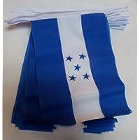 Material de la bandera de Honduras 9 metros 30 hondureño banderines decorativos para cupcakes