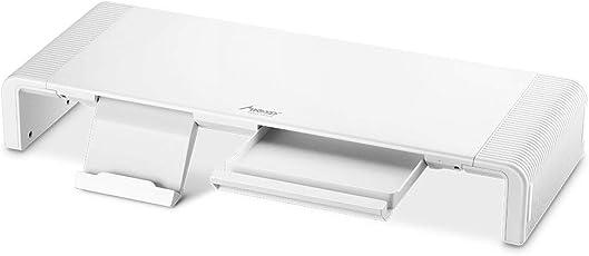 MAD GIGA Monitorständer, Faltbarer Bildschirmständer Bildschirmerhöhung Schreibtischaufsatz Laptopständer für Computer, Laptop, Drucker, Beamer, Bildschirm