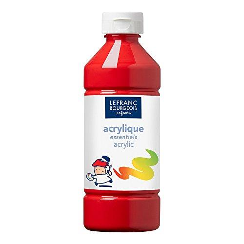 Lefranc bourgeois acrilico - gli essenziali - 500ml - rosso primario