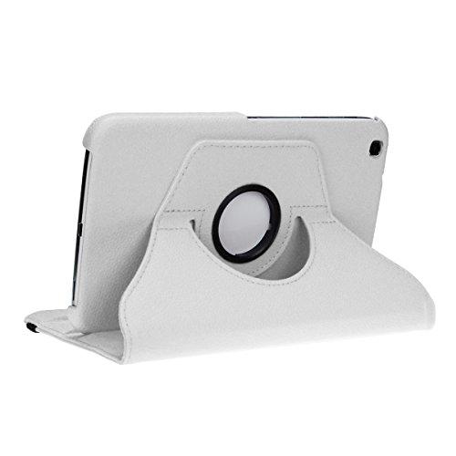 doupi Deluxe Custodia per Samsung Galaxy Tab 3 (8 pollici), 360 Gradi Rotable Protezione con Smart Funzione Sleep/Wake Up Etui Stare in Piedi Protettiva, Bianco