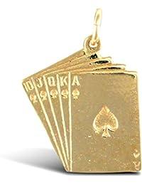 Carte à Jouer en or 9carats Pendentif