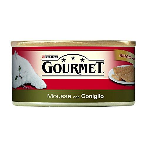 GOURMET ROSSO LATTINA Gourmet 195 gr. mousse con coniglio umido gatto