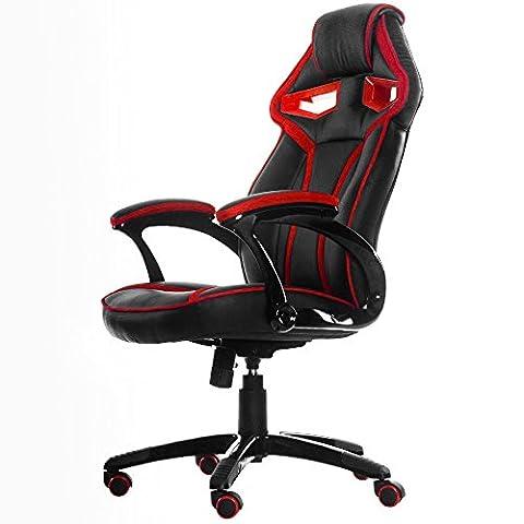 Life Carver Stylish Devil's Eye Series High Back Racing Sport Gaming Chair Executive Swivel Desk (Arms Girevole Sedia)