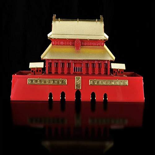 MQKZ 3D Puzzle montiert Metall Modell kit / China - tiananmen / DIY kreative laserschneiden Spielzeug / rot + Werkzeug a / one Size