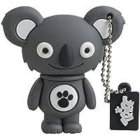 Tribe FD001434 Animals (Animali) The Originals Pendrive 8 GB Simpatiche Chiavette USB Flash Drive 2.0 Memory Stick Archiviazione Dati, Portachiavi, Sanne il Koala, Grigio