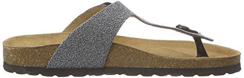Sofie Schnoor Damen Sandal Toe Strap T-Spange Silber (Antic Silver)