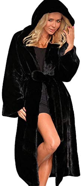 Ginli Cappotto invernale da donna cappuccio con pelliccia sintetica Caldo  Soprabito Cappotto Lungo Giacche Soprabito Caldo 79cb6930f4a